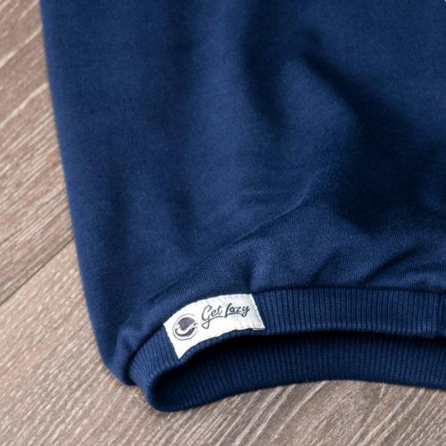 unterer schmaler Beinbund von blauer Get Lazy Jogginghose mit GetLazy Logo